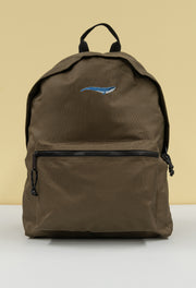 blue whale recycled backpack