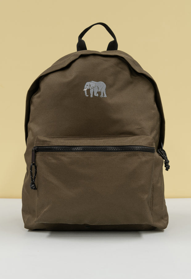 elephant recycled backpack