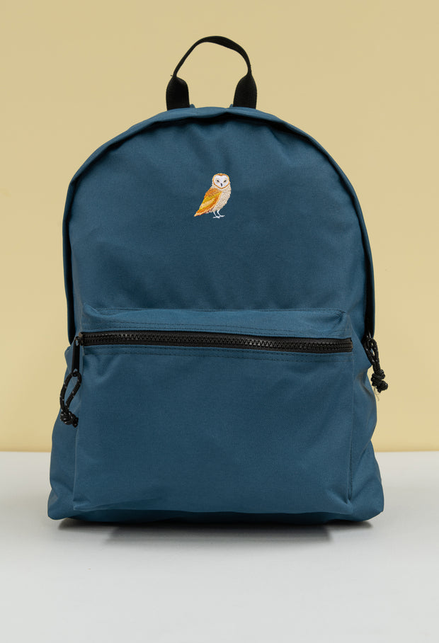 barn owl recycled backpack