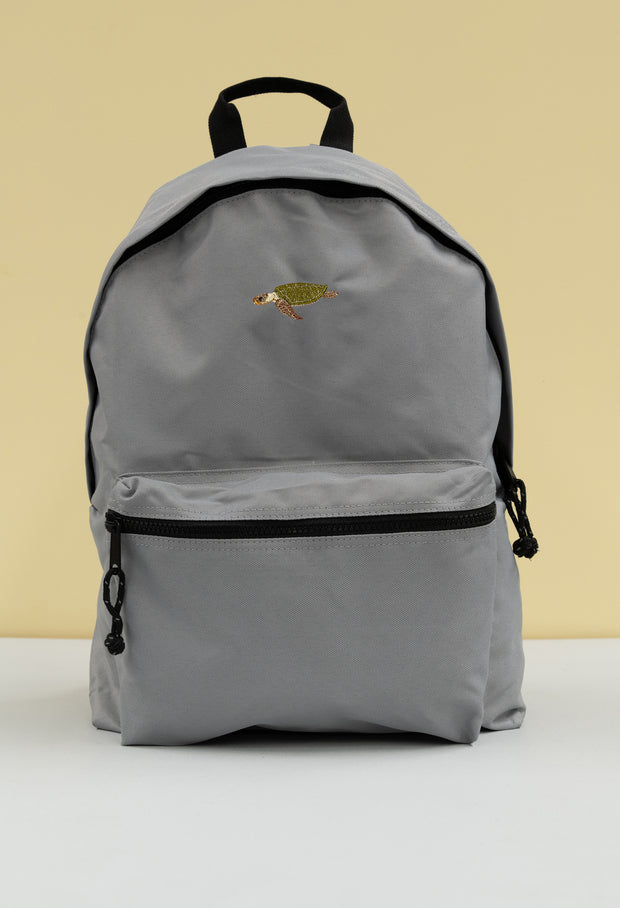 sea turtle recycled backpack