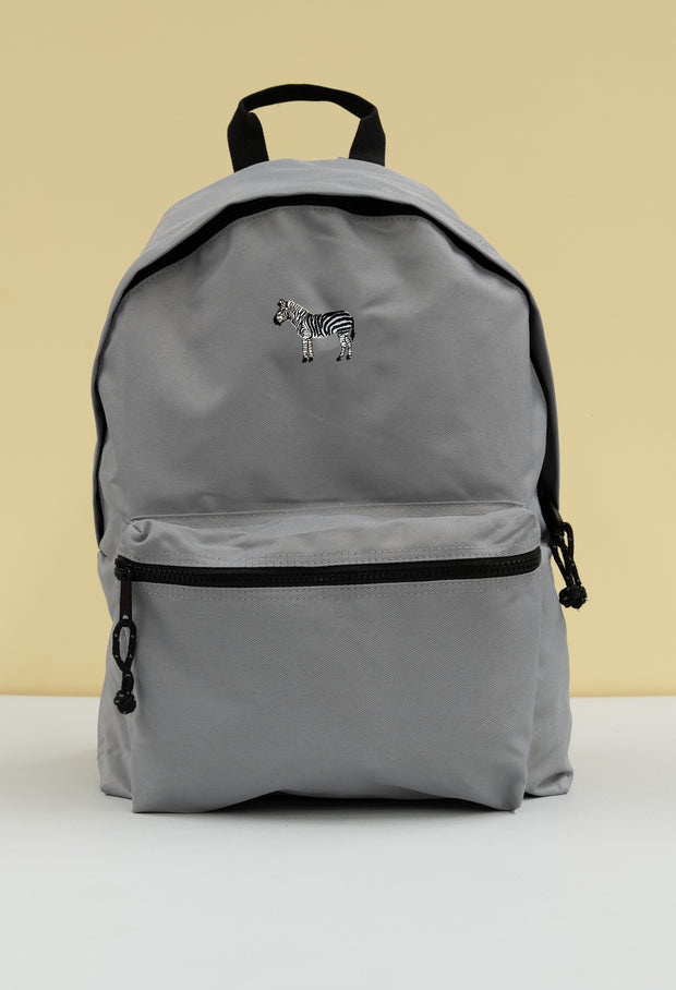 zebra recycled backpack