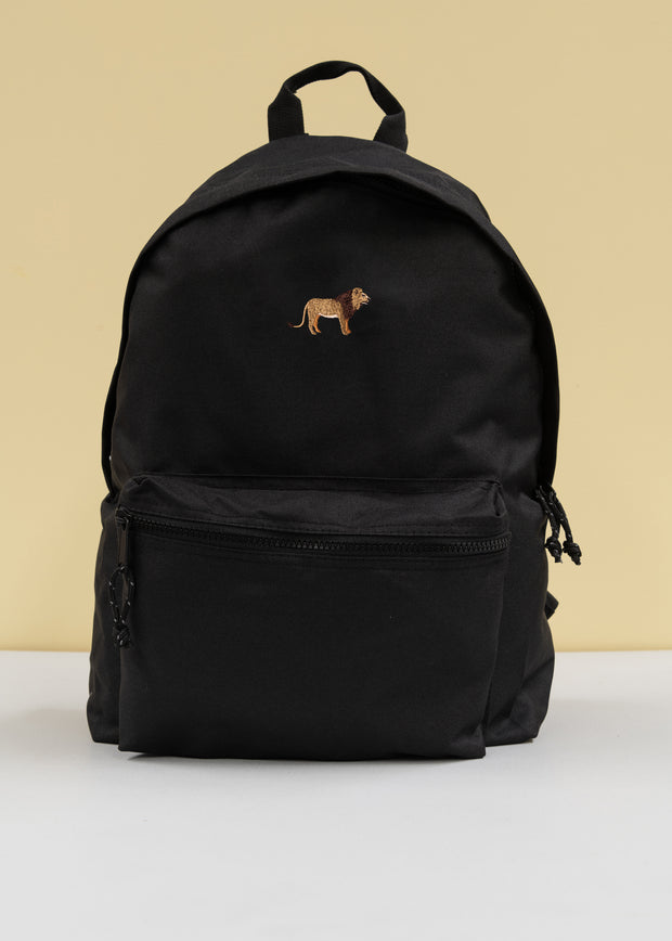 lion recycled backpack