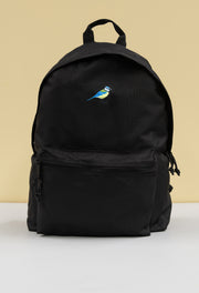 blue tit recycled backpack