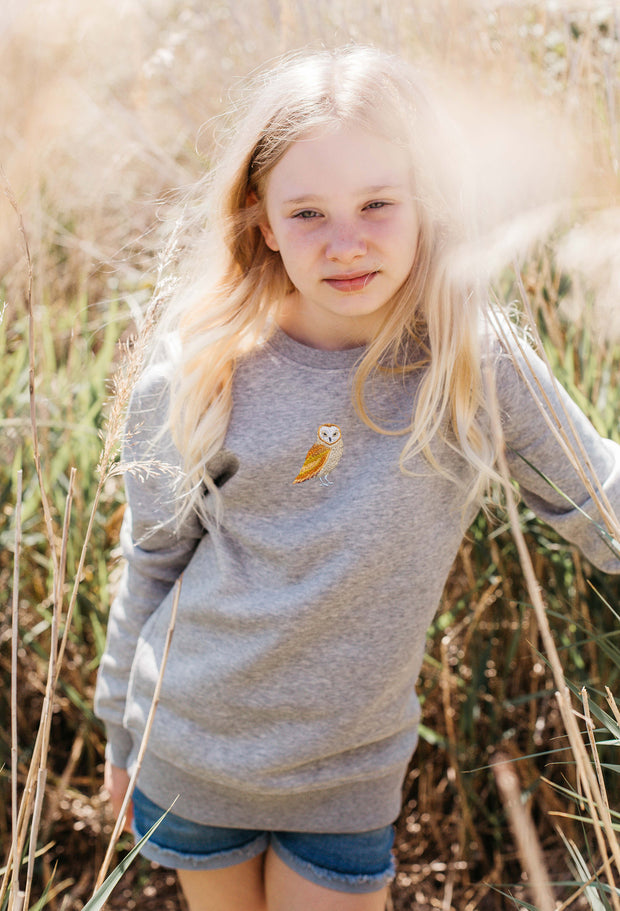 barn owl childrens sweatshirt