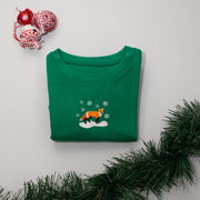 christmas red fox childrens sweatshirt