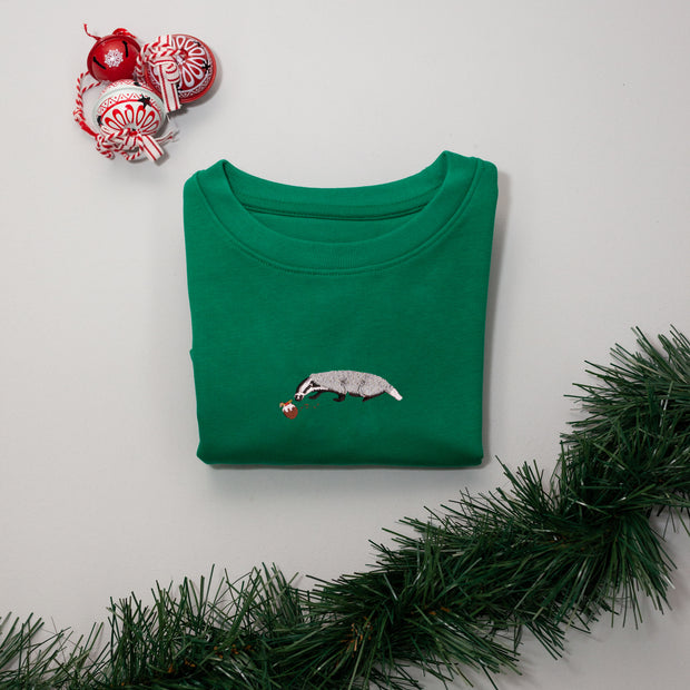 christmas badger childrens sweatshirt