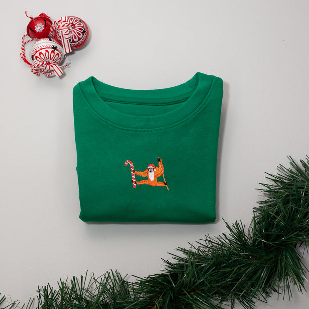 christmas orangutan childrens sweatshirt