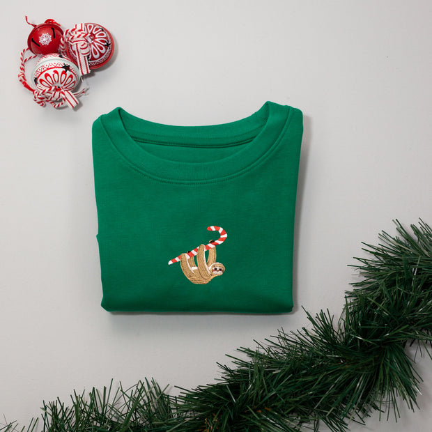 christmas sloth childrens sweatshirt