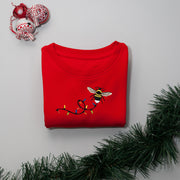 christmas garden bumblebee childrens sweatshirt