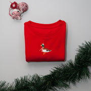 christmas mallard duck childrens sweatshirt