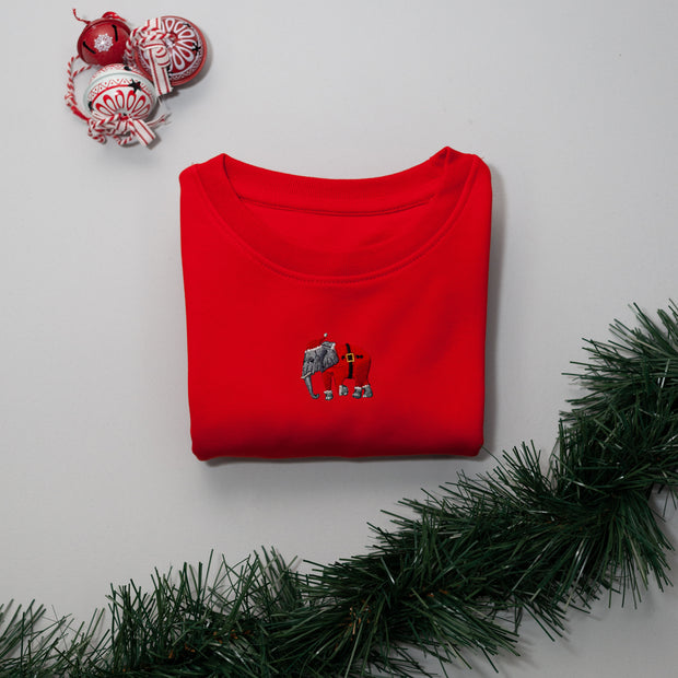 christmas elephant childrens sweatshirt
