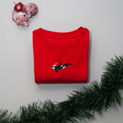 christmas orca childrens sweatshirt