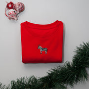 christmas zebra childrens sweatshirt