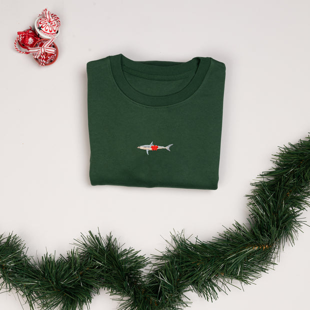 christmas mako shark unisex sweatshirt