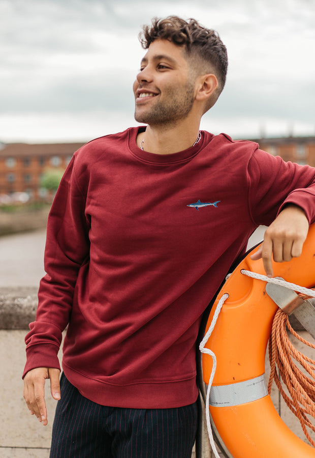 mako shark mens sweatshirt