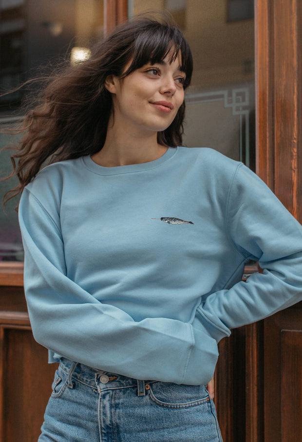 narwhal womens cropped sweatshirt