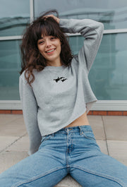 orca duo womens cropped sweatshirt