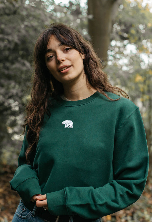 polar bear womens cropped sweatshirt