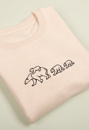 family of polar bears unisex sweatshirt