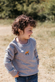 red fox childrens sweatshirt