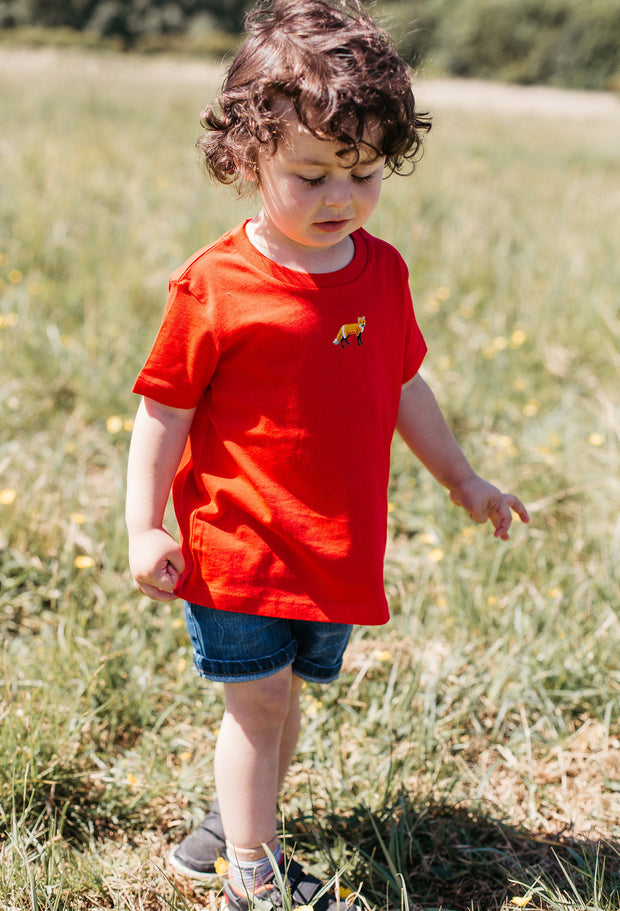 red fox childrens t-shirt