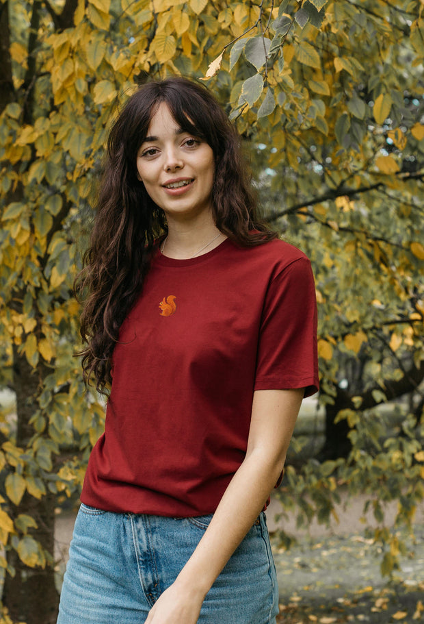 red squirrel womens t-shirt