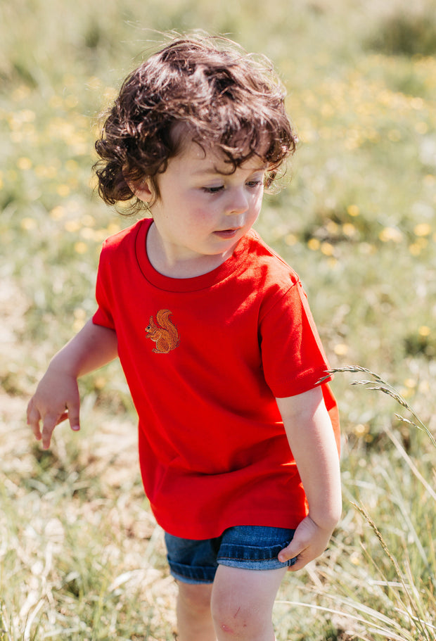 red squirrel childrens t-shirt