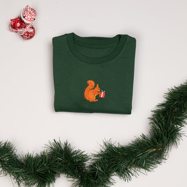 christmas red squirrel unisex sweatshirt