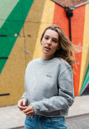 rhino womens cropped sweatshirt