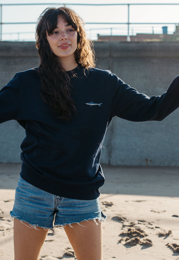 mako shark womens sweatshirt