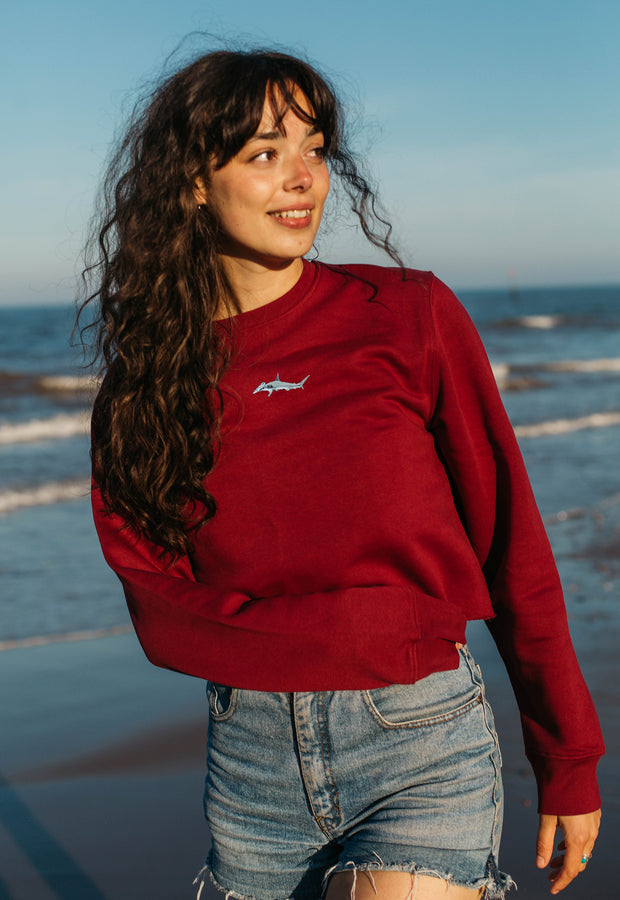 hammerhead shark womens cropped sweatshirt