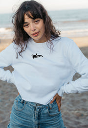 orca womens cropped sweatshirt