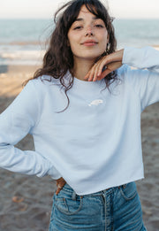 beluga womens cropped sweatshirt