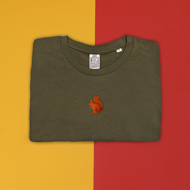 red squirrel mens t-shirt