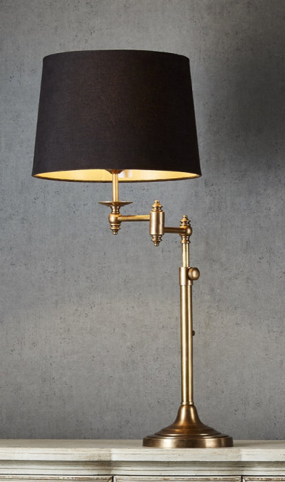 Macleay Swing Arm Table Lamp Base AB - Magins Lighting Table Lamps Usually dispatches within 2-3 days. Please contact us to confirm prior to placing your order. Magins Lighting