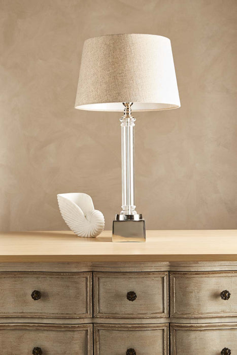 Rockpool table lamp in nickel