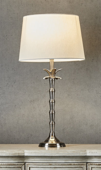 Bahama Small Table Lamp Base Silver - Magins Lighting Table Lamps Usually dispatches within 2-3 days. Please contact us to confirm prior to placing your order. Magins Lighting
