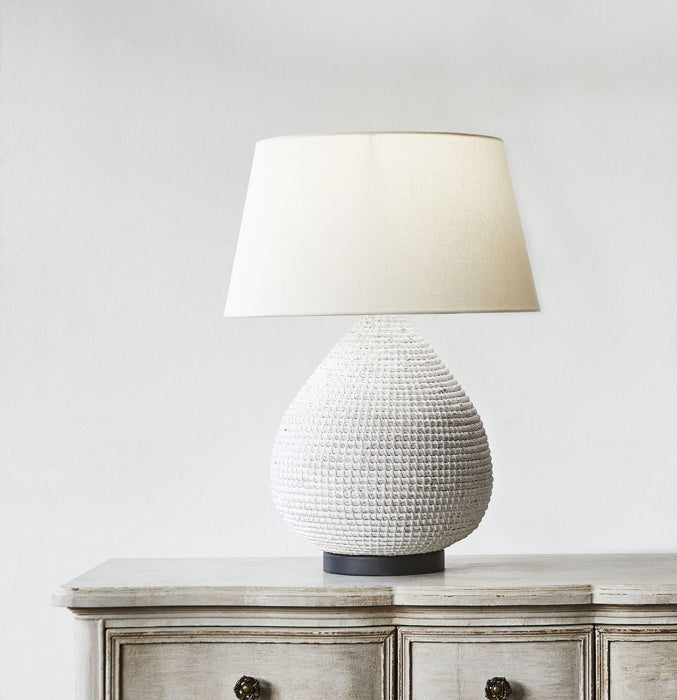 "Marley table lamp w/ cream shd 16"" dia - Magins Lighting Table Lamps Usually dispatches within 2-3 days. Please contact us to confirm prior to placing your order. Magins Lighting"