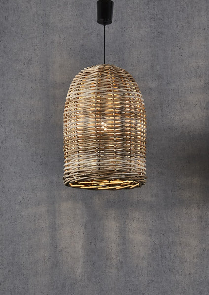 Rattan Bell Pendant Light - Small - Magins Lighting Pendant Usually dispatches within 2-3 days. Please contact us to confirm prior to placing your order. Magins Lighting