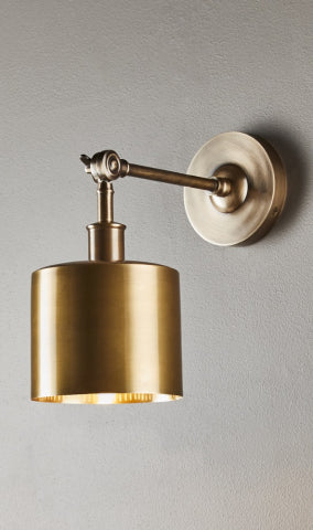 Portofino wall lamp in antique brass - Magins Lighting Interior Wall Lamps Usually dispatches within 2-3 days. Please contact us to confirm prior to placing your order. Magins Lighting