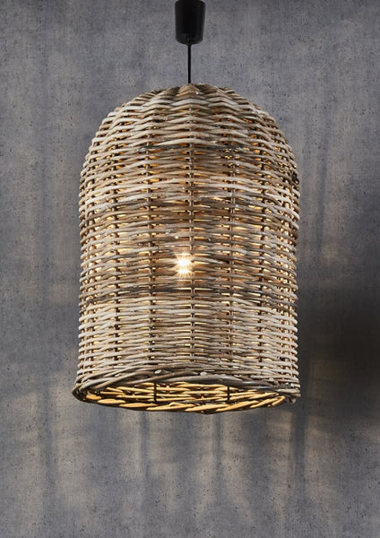 Rattan Bell Pendant Light - Large - Magins Lighting Pendant Usually dispatches within 2-3 days. Please contact us to confirm prior to placing your order. Magins Lighting