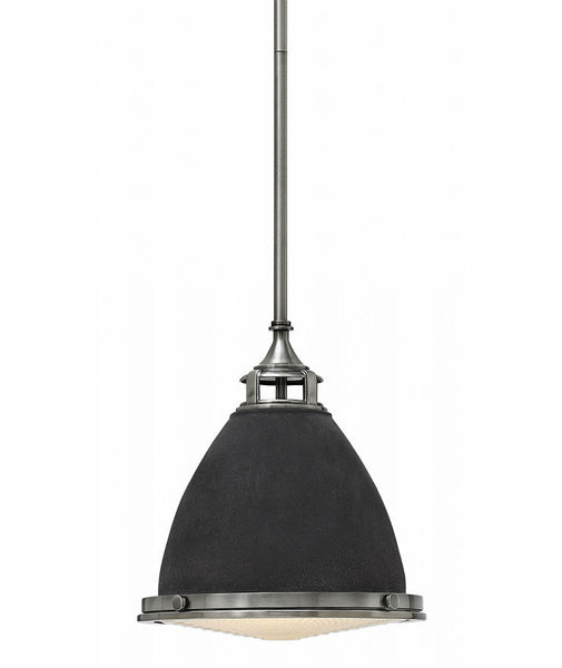 Amelia Pendant | Aged Zinc & Nickel - Magins Lighting Pendant Elstead Lighting Magins Lighting
