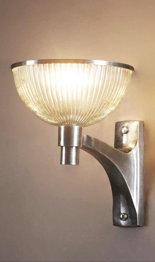 Astor Glass Wall Lamp | Antique Nickel - Magins Lighting Interior Wall Lamps Emac & Lawton Magins Lighting
