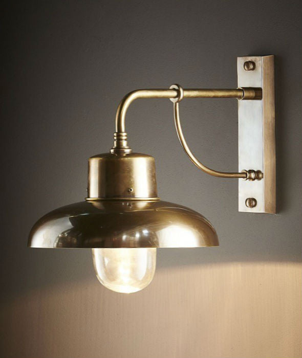 Bridgewater Wall Lamp | Aged Brass - Magins Lighting Exterior Wall Lamps Emac & Lawton Magins Lighting