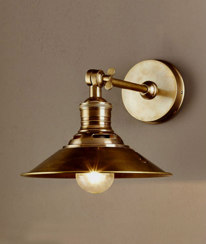Bristol Wall Sconce | Aged Brass - Magins Lighting Interior Wall Lamps Usually dispatches within 2-3 days. Please contact us to confirm prior to placing your order. Magins Lighting