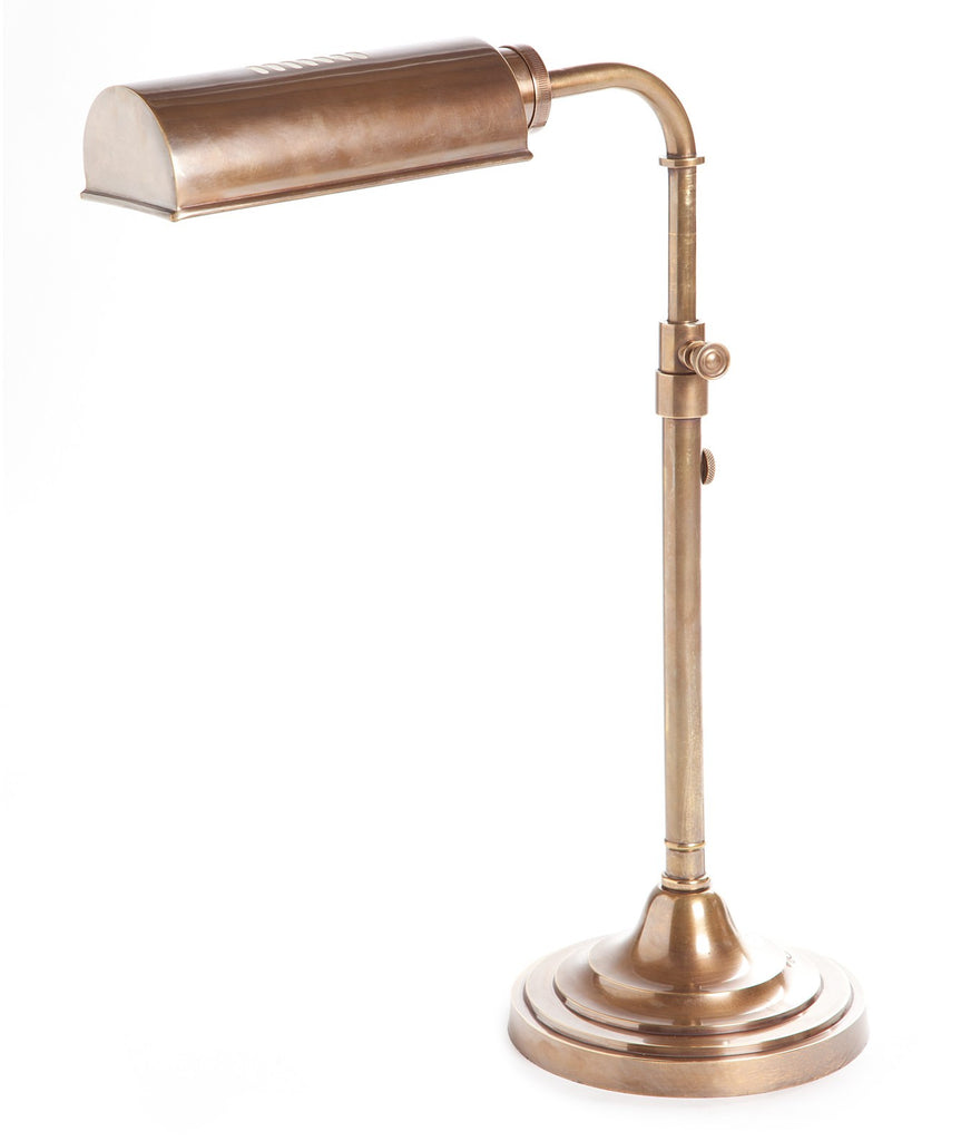 Brooklyn Desk Lamp | Aged Brass - Magins Lighting Desk & Floor Lamps Usually dispatches within 2-3 days. Please contact us to confirm prior to placing your order. Magins Lighting