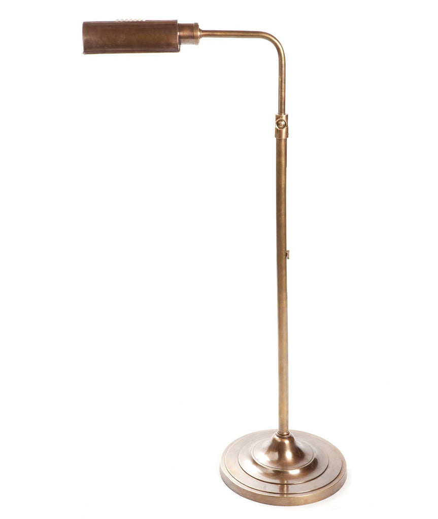 Brooklyn Floor Lamp - Aged Brass - Magins Lighting Desk & Floor Lamps Usually dispatches within 2-3 days. Please contact us to confirm prior to placing your order. Magins Lighting