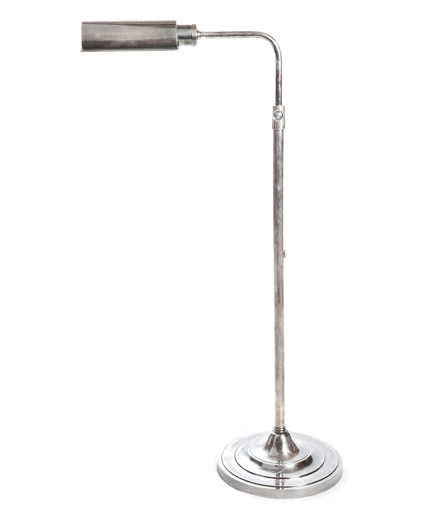 Brooklyn Floor Lamp - Aged Nickel - Magins Lighting Desk & Floor Lamps Usually dispatches within 2-3 days. Please contact us to confirm prior to placing your order. Magins Lighting