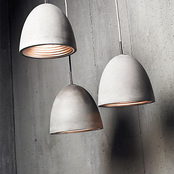 Concrete Pendant | Medium - Magins Lighting Wood and Concrete Pendants Lead Time: 1 - 2 Weeks Magins Lighting