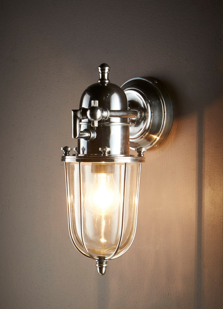 Chapel Wall Lamp | Antique Nickel - Magins Lighting Exterior Wall Lamps Usually dispatches within 2-3 days. Please contact us to confirm prior to placing your order. Magins Lighting
